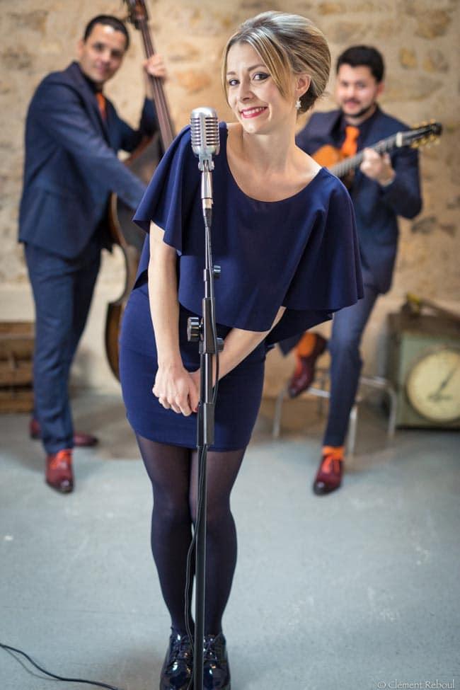 Standards et bianca quartet pop avec chanteuse de jazz mariage