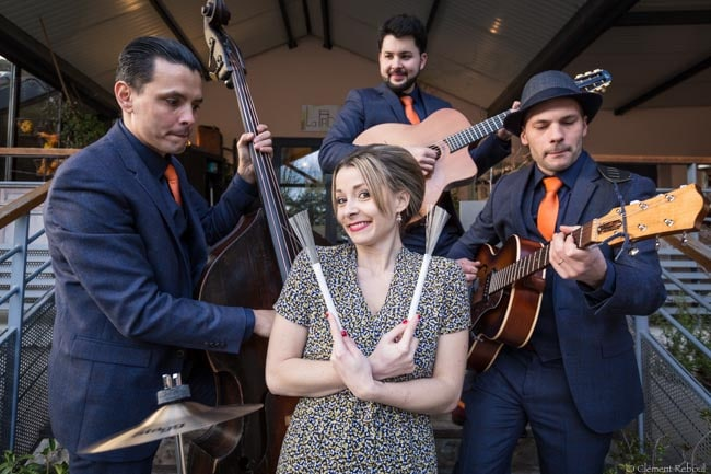 Standards et bianca quartet jazz swing avec chanteuse pop